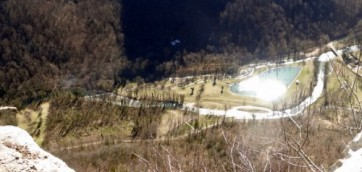 L'Albarine à Chaley…regard d'en haut